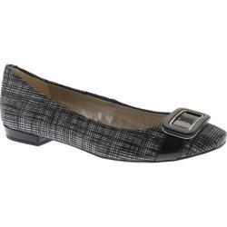 Women's Anne Klein Elonie Ballet Flat Black/White Leather