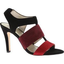 Women's Anne Klein Izalia Slingback Pump Black/Red Multi Suede