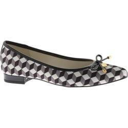 Women's Anne Klein Ovi Pointed Toe Flat Black/White Fabric