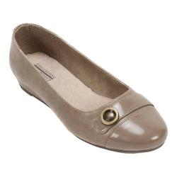 Women's Cliffs by White Mountain Marge Ornamented Slip On Taupe Patent PU
