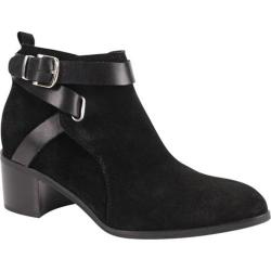 Women's Charles David Gianini Bootie Black Suede/Leather