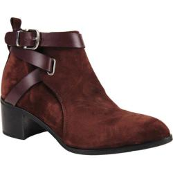 Women's Charles David Gianini Bootie Bordeaux Suede/Leather