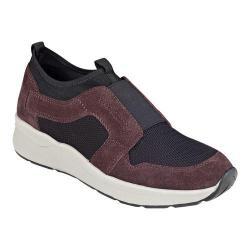 Women's Easy Spirit Ilex Sneaker Dark Purple Leather/Multi Suede