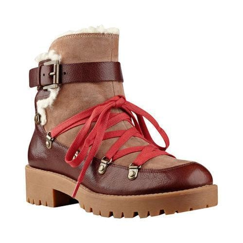 Women's Nine West Orynne Ankle Boot Cognac/Natural Leather