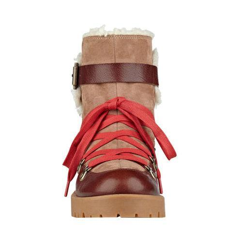 Women's Nine West Orynne Ankle Boot Cognac/Natural Leather - Thumbnail 2