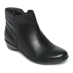 Women's Rockport Venla Ankle Boot Black Leather