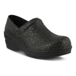Women's Spring Step Neppie Clog Black Roses Synthetic