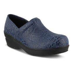 Women's Spring Step Neppie Clog Navy Roses Synthetic