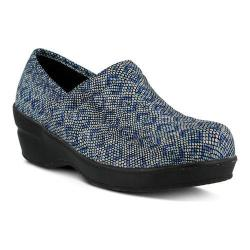 Women's Spring Step Neppie Clog Royal Blue Python Synthetic
