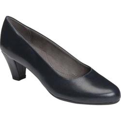 Women's A2 by Aerosoles Redwood2 Pump Navy Faux Suede