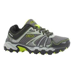 Girls' Fila TKO TR Trail Running Shoe Pewter/Black/Lime Punch