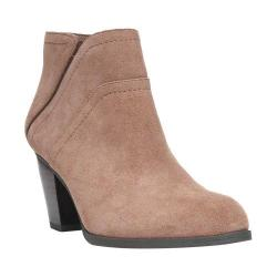 Women's Franco Sarto Domino Ankle Boot Mushroom Velour Suede Leather