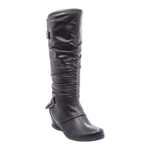 b012bf30a65 Shop Women s Bare Traps Quivina Knee High Wedge Boot Black - Free Shipping  Today - Overstock - 13249124