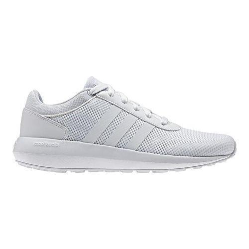 negozio uomini è adidas neo cloudfoam razza bianca / white / bianco, scarpe da ginnastica