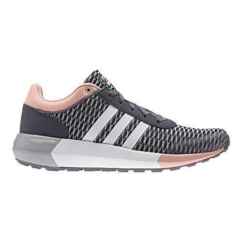 a2b4312120c Shop Women s adidas NEO Cloudfoam Race Sneaker Onix White Vapour Pink -  Free Shipping Today - Overstock - 13254964