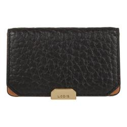 Women's Lodis Borrego Under Lock & Key Mini Card Case Black