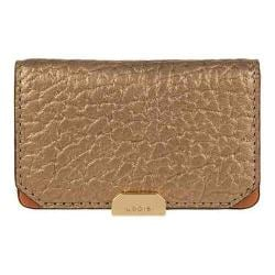 Women's Lodis Borrego Under Lock & Key Mini Card Case Bronze