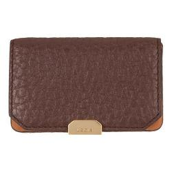 Women's Lodis Borrego Under Lock & Key Mini Card Case Dark Brown
