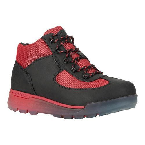 Men's Lugz Flank Hiking Boot Black/Mars Red/Clear Durabrush