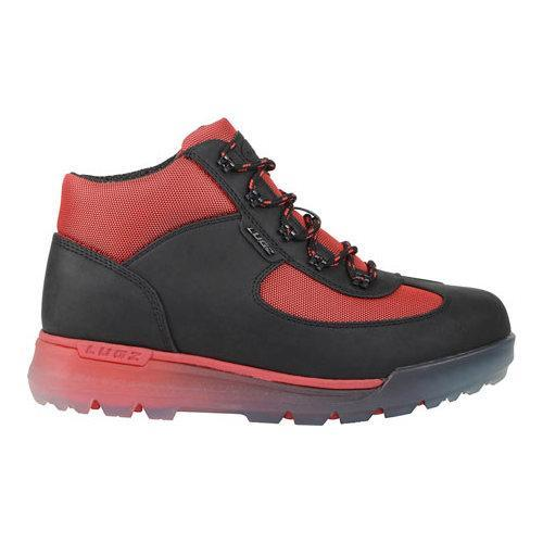 Men's Lugz Flank Hiking Boot Black/Mars Red/Clear Durabrush - Thumbnail 1