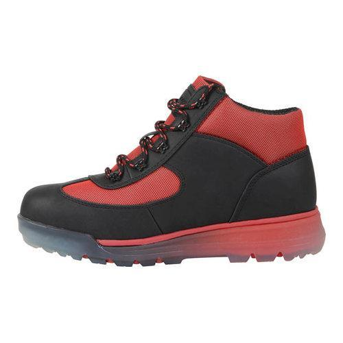 Men's Lugz Flank Hiking Boot Black/Mars Red/Clear Durabrush - Thumbnail 2