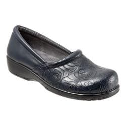 Women's SoftWalk Adora Navy Rose Embossed/Soft Nappa Leather/Lycra