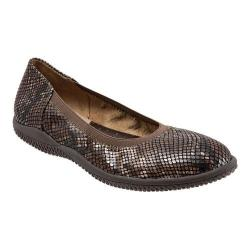 Women's SoftWalk Hampshire Ballerina Flat Brown Printed Python