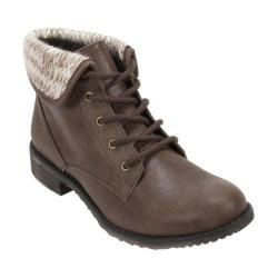 Women's Cliffs by White Mountain Neponset Cuffed Combat Boot Taupe Multi/Distressed Textile/Sweater