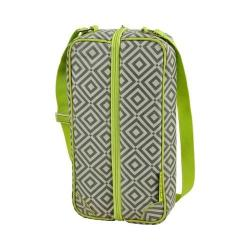 Picnic at Ascot Sunset Deluxe Wine Carrier for Two Diamond Granite Grey/Green