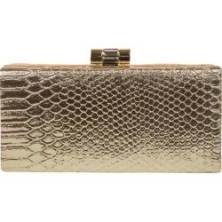 Women's Jessica McClintock Brady Python Clutch Light Gold