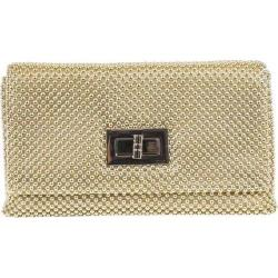 Women's Jessica McClintock Trina Metal Mesh Clutch Light Gold