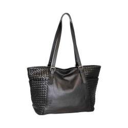 Women's Nino Bossi Hibiscus Bud Tote Handbag Black