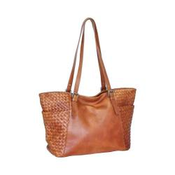 Women's Nino Bossi Hibiscus Bud Tote Handbag Cognac