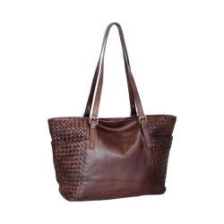 Women's Nino Bossi Hibiscus Bud Tote Handbag Walnut