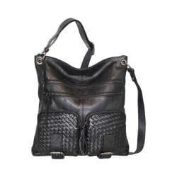 Women's Nino Bossi Snap Dragon Petal Cross Body Bag Black