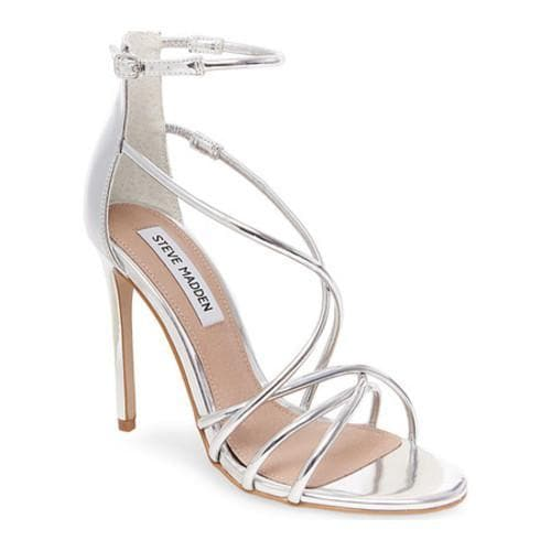 f2050ba148e Shop Women s Steve Madden Satire Ankle Strap Sandal Silver - Free Shipping  Today - Overstock - 13312645