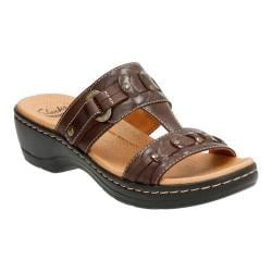 Women's Clarks Hayla Young T Strap Sandal Brown Leather