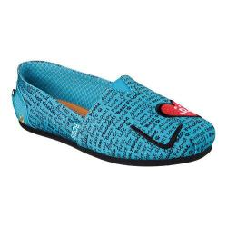 Women's Skechers BOBS Plush Lucky Love Alpargata Turquoise