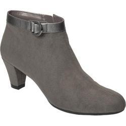 Women's A2 by Aerosoles Shore Enough Shoe Bootie Grey Faux Suede/Leather Combo
