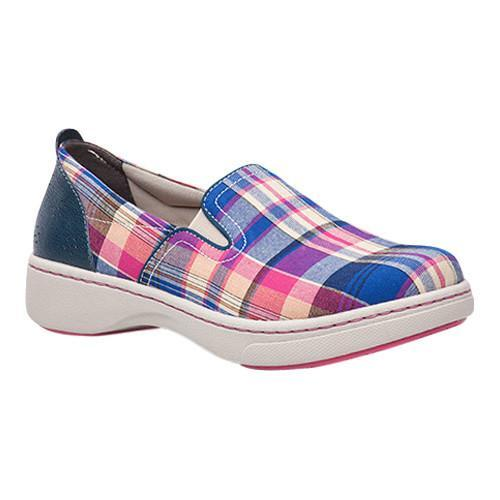 Women's Dansko Belle Slip-On Sneaker Blue Madras Canvas