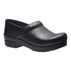 Women's Dansko Professional Clog Black Woven Leather