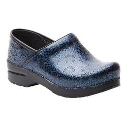 Women's Dansko Professional Clog Navy Medallion Embossed Patent Leather
