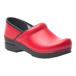 Women's Dansko Professional Clog Red Box Leather
