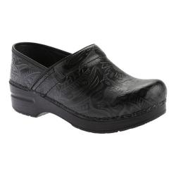 Women's Dansko Professional Tooled Clog Black Tooled