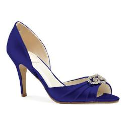 Women's Pink Paradox London Amour D'Orsay Open Toe Pump Navy Satin