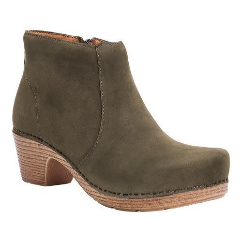 Dansko Womens Brown Boots Maria Milled Nubuck