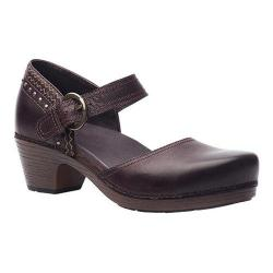 Women's Dansko Makenna Ankle Strap Brown Full Grain Leather