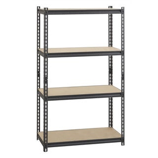 "Iron Horse 2300 lb Riveted Shelving, 4-Shelf, 60""Hx36""Wx18""D, Black"