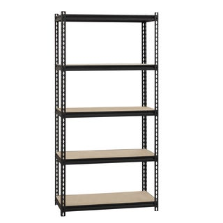 "Iron Horse 2300 lb Riveted Shelving, 5-Shelf, 72""Hx36""Wx18""D, Black"