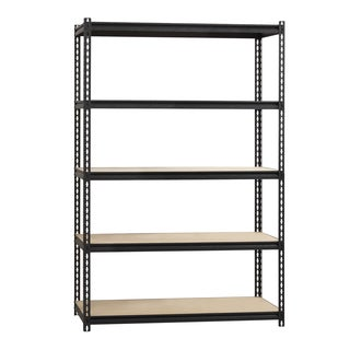 Iron Horse 2300-pound Black Finish Steel 18D x 48W x 72H-inch Rivet Shelving